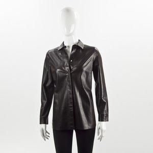 Camisa Gucci em couro preta