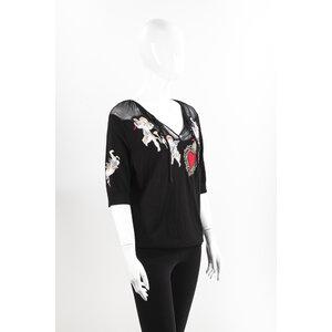Top Dolce & Gabbana Preto em Malha com Bordado