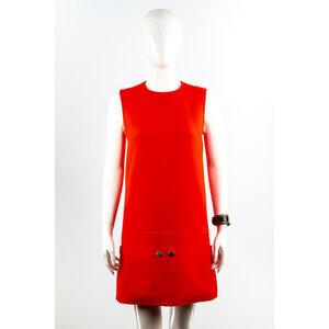 Vestido Courreges Crepe Vermelho