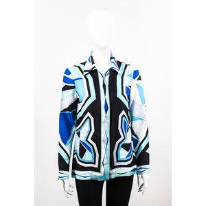 Camisa Pucci Seda Estamp/Azul