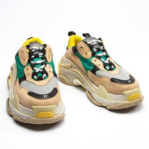 Sneakers Balenciaga Triple-S Tons /Verde/Amarelo