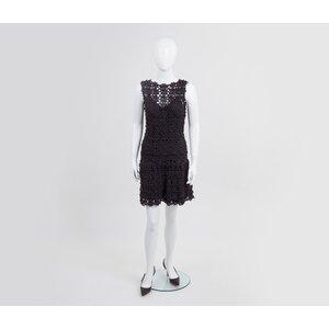 Vestido Vanessa Montoro preto c/ forro