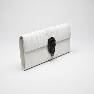 Clutch Christian Dior Snake Branca