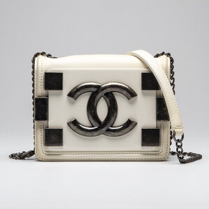 Mini Bolsa Chanel Boy Brick Branca