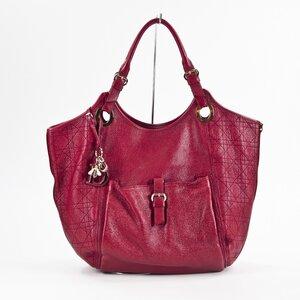 Bolsa Dior em couro vermelha