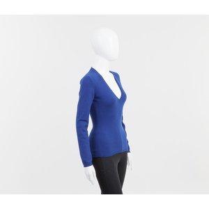 Malha Ballantyne em cashmere azul bic