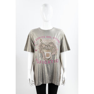 Camiseta Tig Tecido Dourada