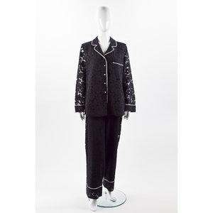 Conjunto com calça Carolina Herrera em renda preto