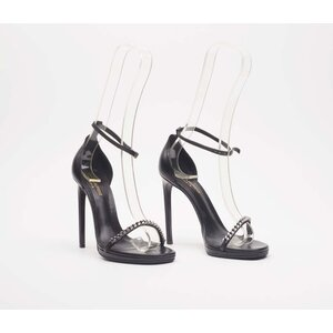 Sandalía YSL de couro preta