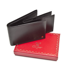 Carteira Cartier em couro preta