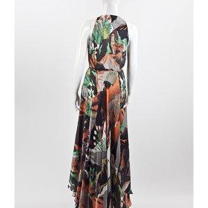 Vestido Longo Adriana Barra estampado