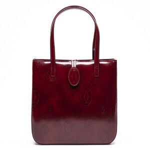 Bolsa Cartier em couro bordô