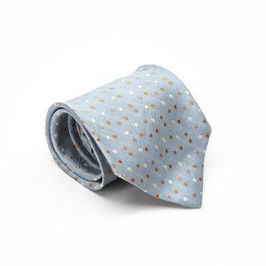 Gravata Ermenegildo Zegna Seda Azul Clara com Branco