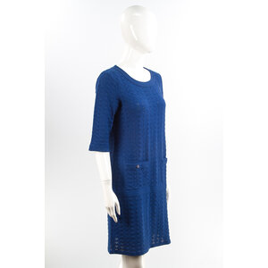 Vestido Chanel Azul Bic