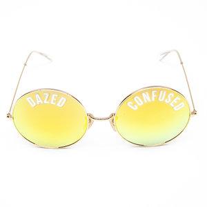 Óculos Dreamer com Tattoos Dourado