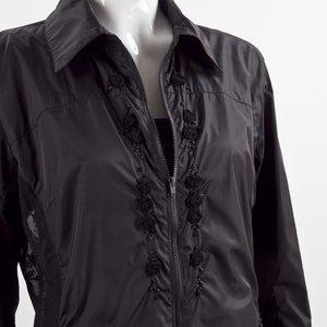 Jaqueta Blumarine em seda e renda preto