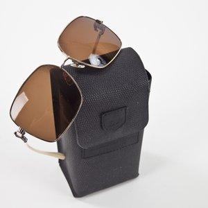 Óculos Kieselstein-Cord marron aro dourado
