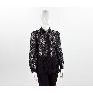 Camisa Dolce & Gabbana em renda preta