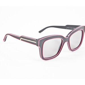 Óculos Stella McCartney cinza e rosa