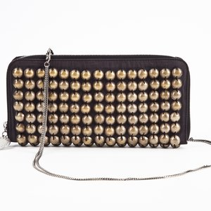 Clutch Stella McCartney c/ ferragem dourada