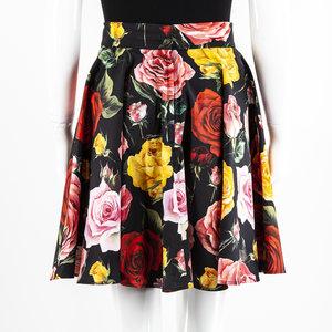 Saia Dolce & Gabbana Algodão Estampada com Flores
