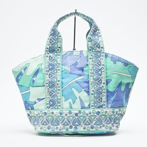 Shopper Pucci em tecido estampada em turquesa