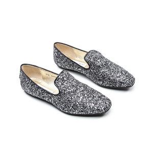 Loafers Jimmy Choo Prateado com Gliter