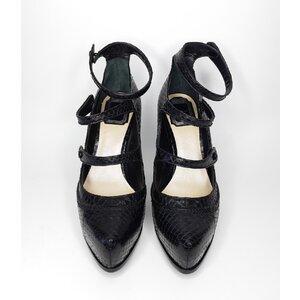 Sapato Christian Dior em Couro exótico Preto