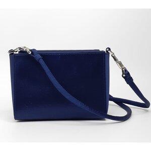 Crossbody Christian Dior Cetim Azul Marinho