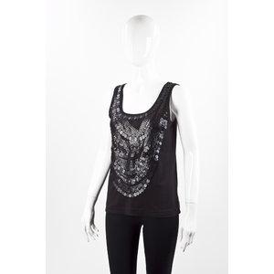 Regata Givenchy em cotton bordada preta