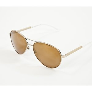 Óculos Chanel espelhado dourado