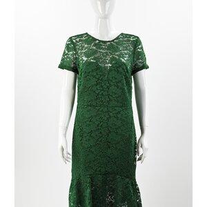 Vestido Burberry em quipir verde