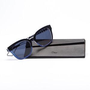 Óculos Christian Dior Dioramal Azul Metalizado