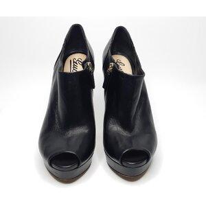 Ankle Boot Gucci Couro Preto