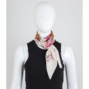 Lenço Dolce & gabbana em seda estampado rosa