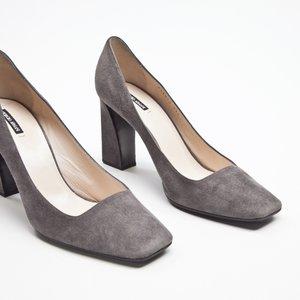 Sapato Giorgio Armani camurça cinza