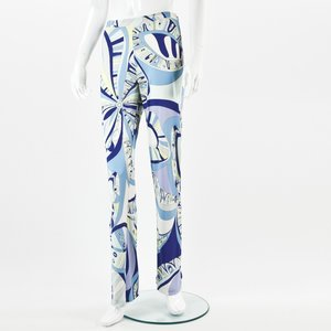 Calça Pucci em jersey estampada em azuis