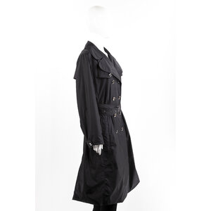 Trench Coat Burberry Nylon Preto