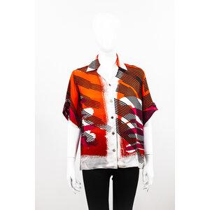 Camisa Hermes Seda Estampada