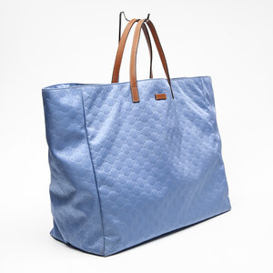 Shopping Bag Gucci Couro Azul Jeans