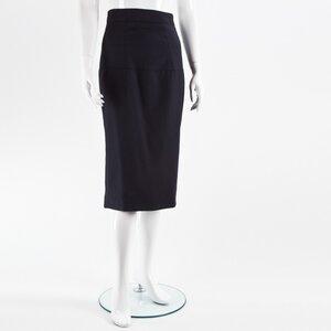 Saia Burberry em cashmere azul marinho