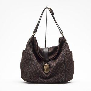 Bolsa Louis Vuitton em tecido com logomarca