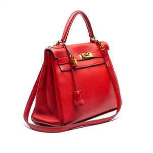 Bolsa Hermès Kelly Togo 32 vermelha