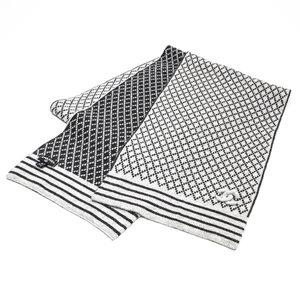 Cachecol Chanel em cashmere cinza e preto