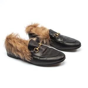 Loafers Gucci Couro/Pele Preto
