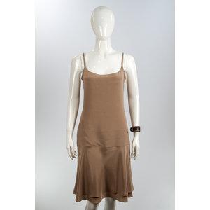 Vestido Chanel Seda Nude