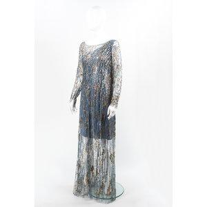 Vestido Jenny Packhman Bordado Azul