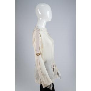 Camisa Tom Ford Seda Off White