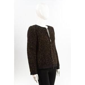 Blazer Emporio Armani Tweed Marron e Preto