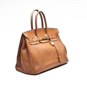 Bolsa Hermès Birkin 35 Clemence caramelo